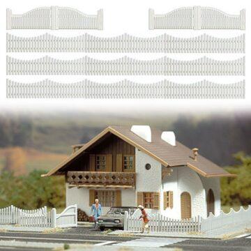 BUSCH 6009 <br/>Gartenzaun mit Toren 1