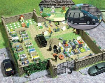 BUSCH 6049 <br/>Bausatz: Friedhof 1