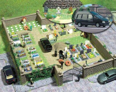 BUSCH 6049 <br/>Bausatz: Friedhof