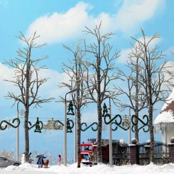 BUSCH 6158 <br/>Platanen, winterlich, 4 Stück 1