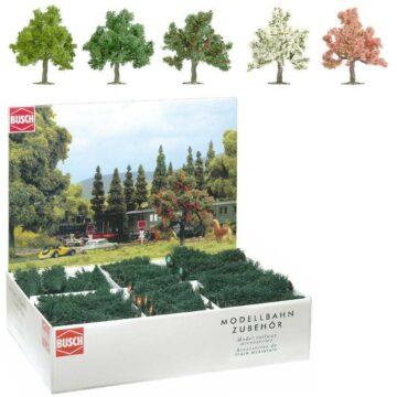 BUSCH 6331 <br/>Obst- und Blütenbäume, Großpackung, 64 Stück 1
