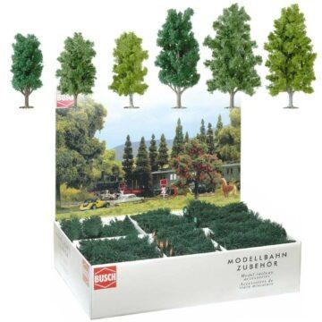 BUSCH 6332 <br/>Laubbäume, Großpackung, 36 Stück 1