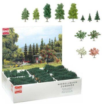 BUSCH 6333 <br/>Bäume, Großpackung, 204 Stück 1