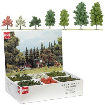 BUSCH 6334 <br/>Laub- und Obstbäume, Großpackung, 45 Stück 1