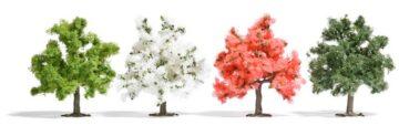 BUSCH 6841 <br/>Obstbäume, 75mm hoch, 4 Stück 1