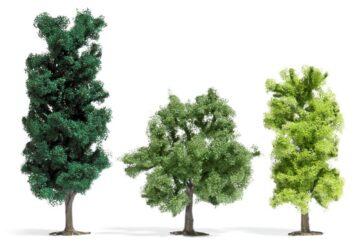 BUSCH 6941 <br/>Laubbäume, Höhe 90-150 mm, 3 Stück 1