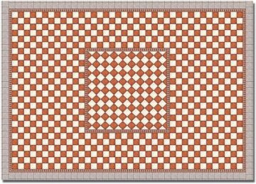 BUSCH 7413 <br/>Dekoplatten »Gefliester Platz (Antik)«, 2 Stück 1