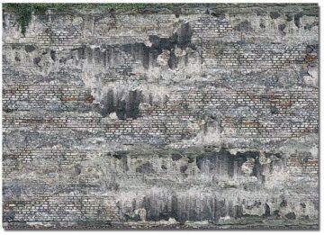 BUSCH 7415 <br/>Dekoplatten »Verwitterte Industriesteinmauer«, 2 Stück 1