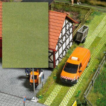 BUSCH 7430 <br/>Dekorplatte »Rasengittersteine«, 3D 1