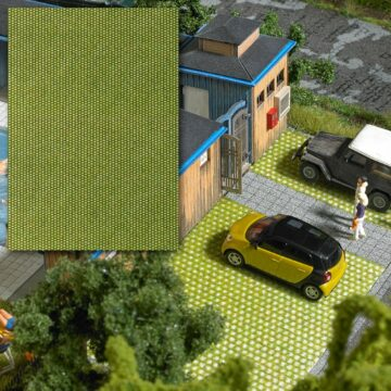 BUSCH 7431 <br/>Dekorplatte »Rasenpflastersteine«, 3D 1