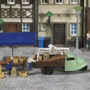 BUSCH 7707 <br/>Mini-Welt: Marktstand »Kartoffeln« 1