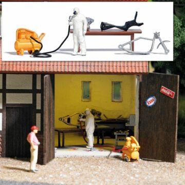 BUSCH 7811 <br/>Action Set: Hinterhof Lackierer 1