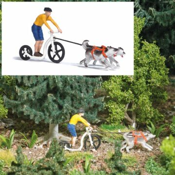 BUSCH 7814 <br/>Action Set: Dogscooting 1