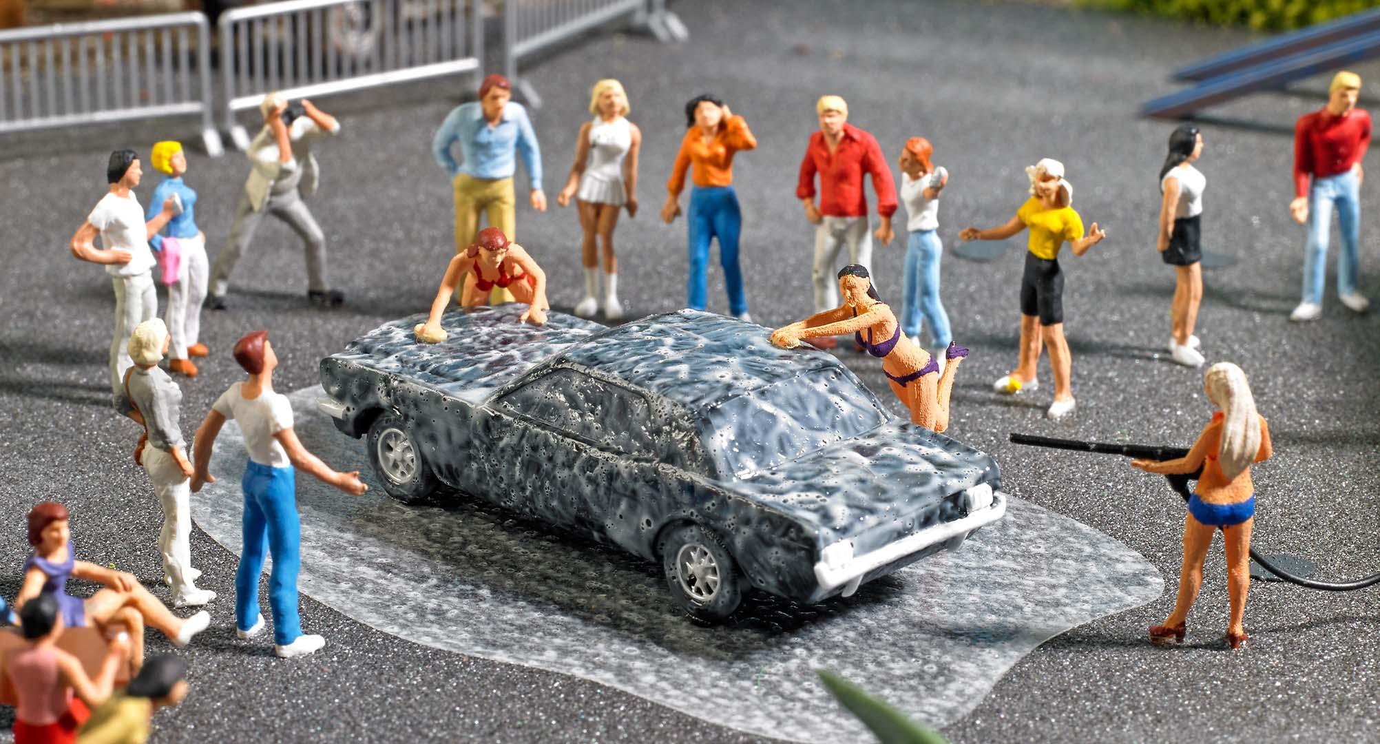 BUSCH 7824 <br/>A-Set: Car-Wash H0            3