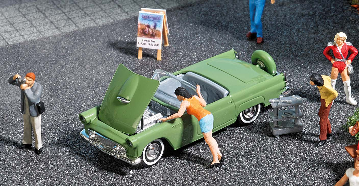 BUSCH 7826 <br/>A-Set: Motorshow H0           2