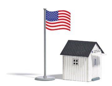 BUSCH 9729 <br/>US Poststation H0 1