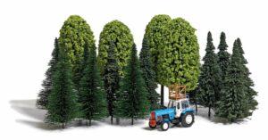 BUSCH 9777 <br/>Baum-Set und Traktor