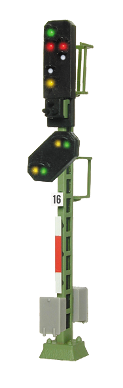 Viessmann 4416 <br/>Licht-Ausfahrsignal mit Vor-Signal (DB 1969)