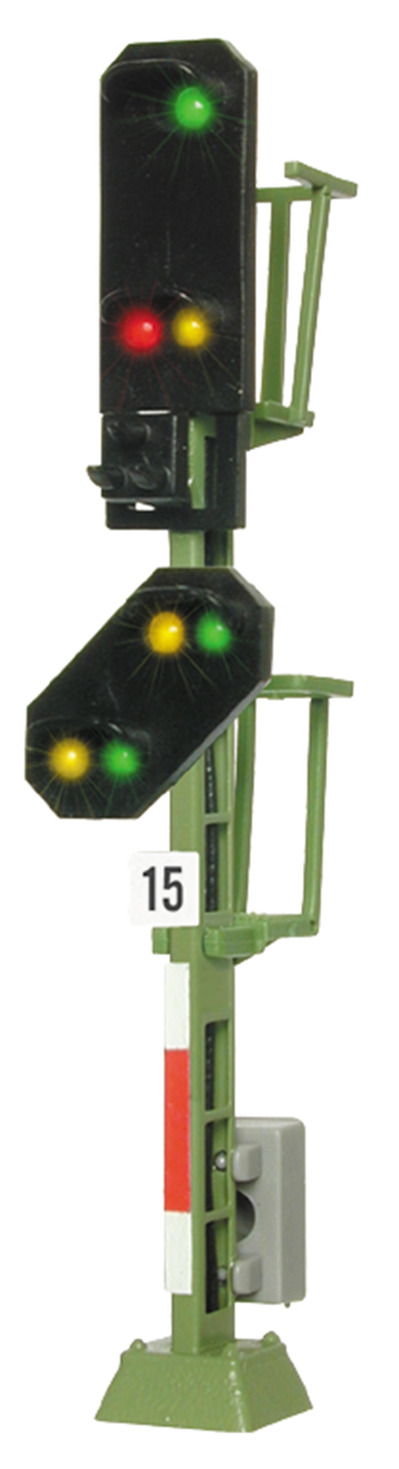 Viessmann 4915 <br/>Licht-Einfahrsignal mit Vor-Signal (DB 1969)