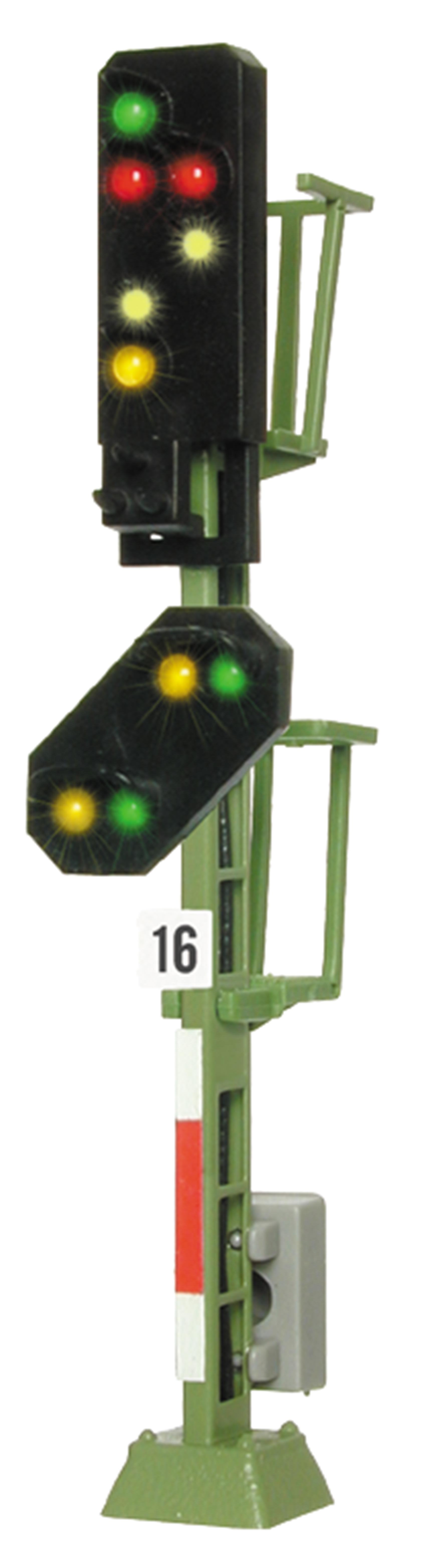 Viessmann 4916 <br/>Licht-Ausfahrsignal mit Vor-Signal (DB 1969)