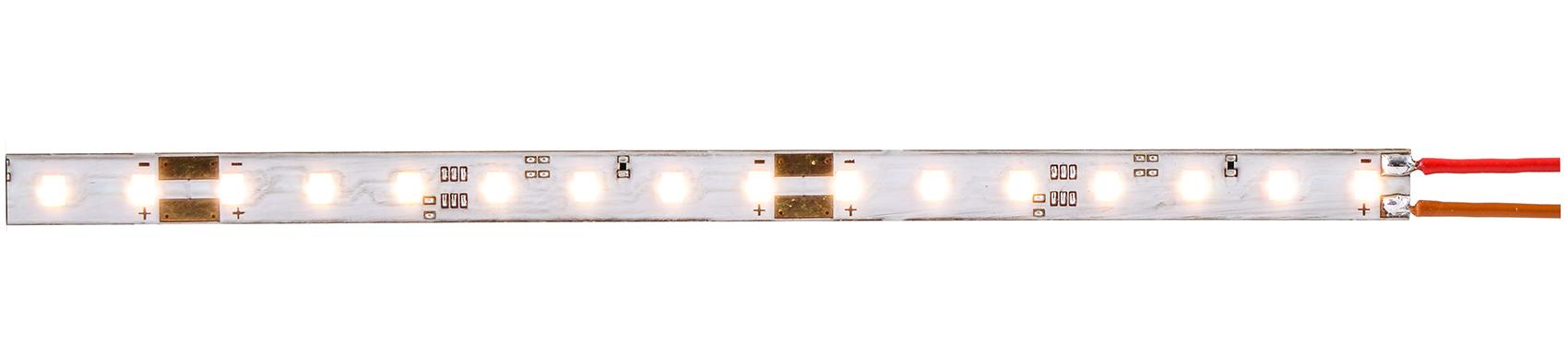 Viessmann 5086 <br/>LED-Leuchtstreifen 8 mm breit mit warmweißen LEDs 2000K