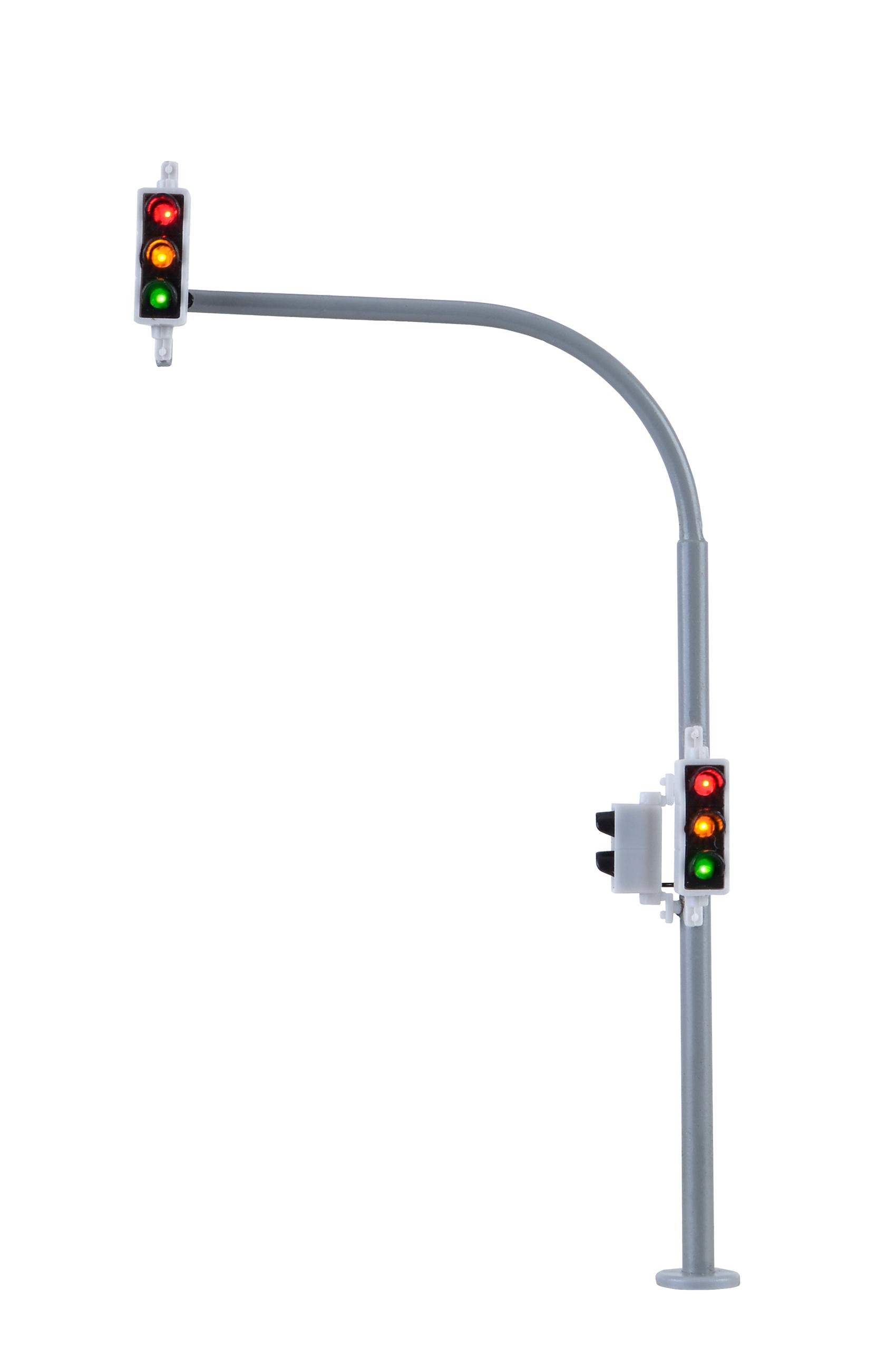 Viessmann 5094 <br/>H0 Bogenampel mit Fußgängerampel und LEDs,2 Stück