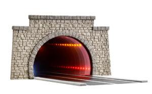 Viessmann 5097 <br/>H0 Straßentunnel, klassisch, mit LED Spiegeleffektund Tiefenwirkung