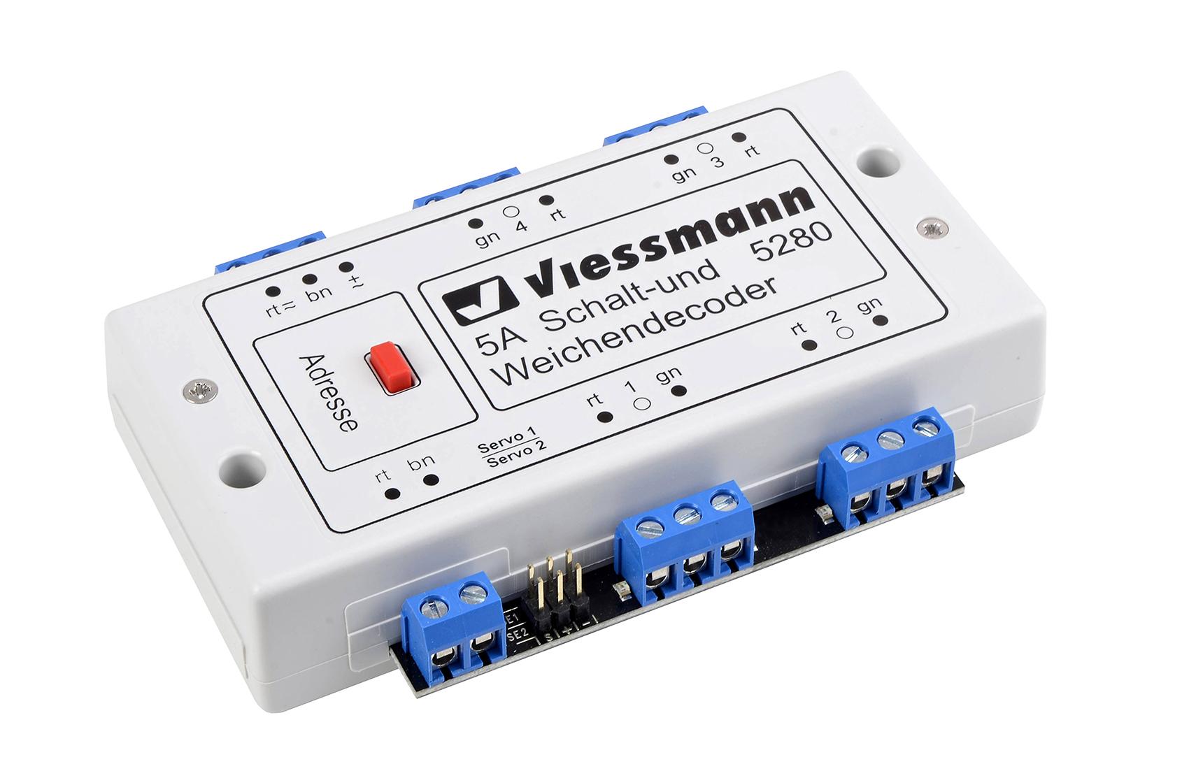 Viessmann 5280 <br/>Multiprotokoll Schalt- und Weichendecoder