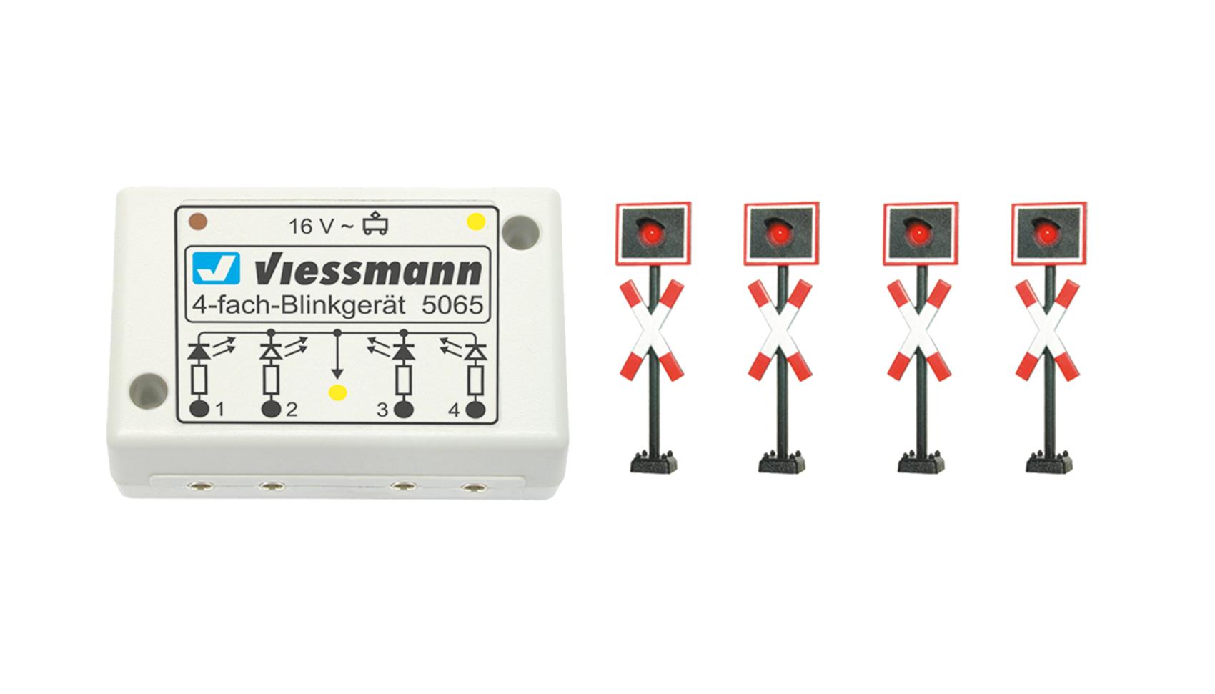 Viessmann 5800 <br/>Andreaskreuze, mit Blink-Elektronik, 4 Stück
