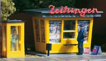 Auhagen 12340 <br/>Zeitungskiosk mit Telefonzelle  1