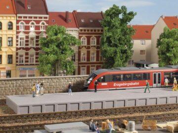 Auhagen 41634 <br/>Bahnsteig ohne Überdachung 1