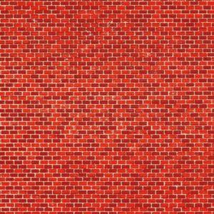 Auhagen 50104 Dekorpappen Ziegelmauer rot