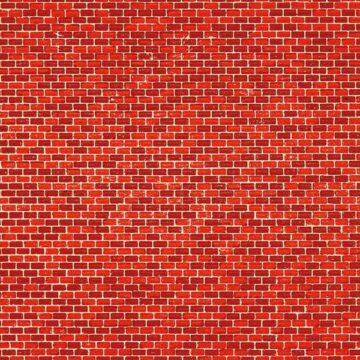 Auhagen 50104 <br/>Dekorpappen Ziegelmauer rot 1