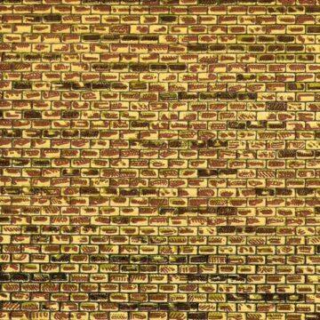 Auhagen 50501 <br/>Dekorpappe regelmäßiges Mauerwerk lose 1