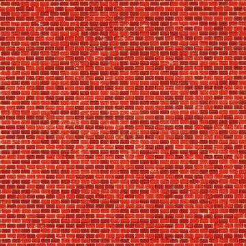 Auhagen 50504 <br/>Dekorpappe Ziegelmauer rot lose 1