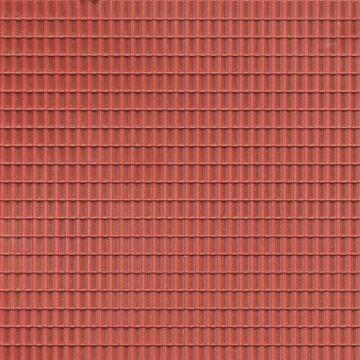 Auhagen 52225 <br/>Dekorplatten Dachpfanne rotbraun 1