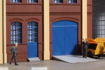 Auhagen 80255 <br/>Tore und Türen blau, Stufen, Rampen 1