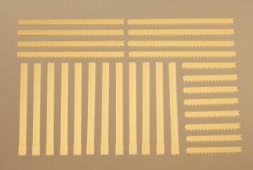 Auhagen 80403 <br/>Säulen und Ziegelfriese gelb  1