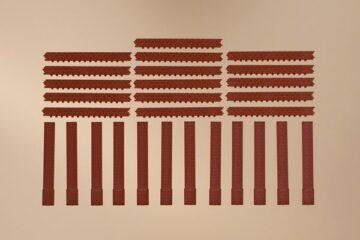 Auhagen 80410 <br/>Säulen kurz und Ziegelfriese rot 1