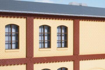 Auhagen 80416 <br/>Säulen Obergeschoss und Ziegelfriese rot 1