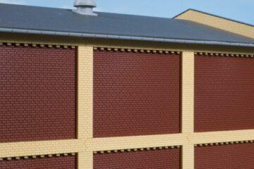 Auhagen 80417 <br/>Säulen Obergeschoss und Ziegelfriese gelb 1