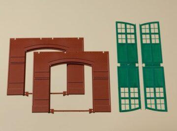Auhagen 80505 <br/>Wände 2326A rot, Tore I grün  1