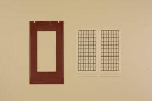 Auhagen 80530 <br/>Wände 2578D rot, Industriefenster P