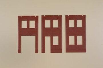 Auhagen 80532 <br/>Wände 2578A, Wände 2578B und Wände 2578C rot 1