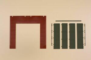Auhagen 80533 <br/>Wände 2579A, Tore T grün