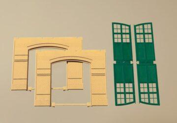 Auhagen 80605 <br/>Wände 2326A gelb, Tore I grün 1