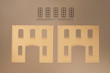 Auhagen 80618 <br/>Wände 2391A gelb, Industriefenster L 1