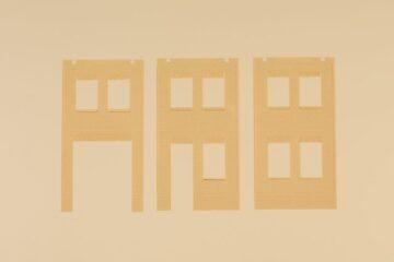 Auhagen 80632 <br/>Wände 2578A, Wände 2578B und Wände 2578C gelb 1