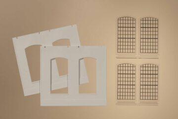 Auhagen 80703 <br/>Wände 2326D geputzt, Industriefenster E 1