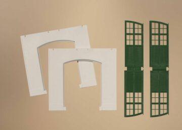 Auhagen 80705 <br/>Wände 2326C geputzt, Tore I grün 1